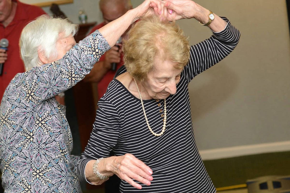 Female Seniors Dancing