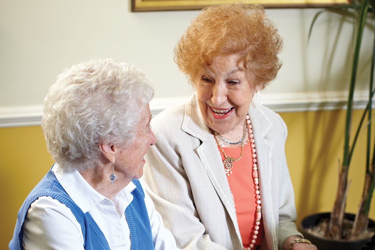 Senior Living Residents in Music Room