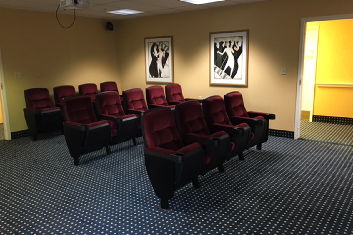 Brandywine Living at Senior Suites Movie Theater