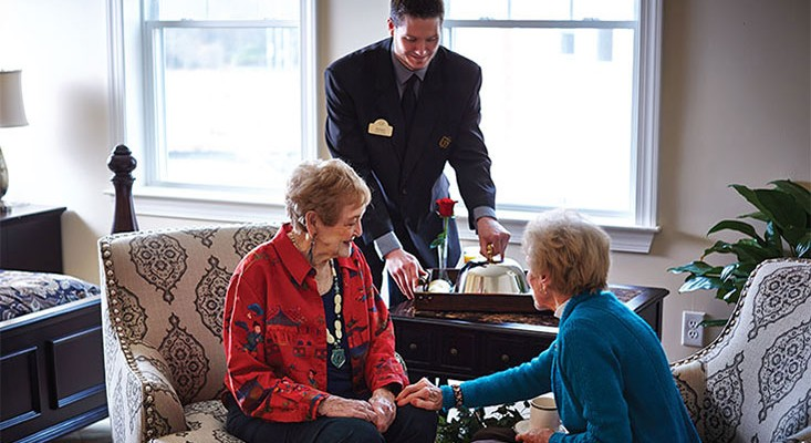Butler Brings Room Service to Residents