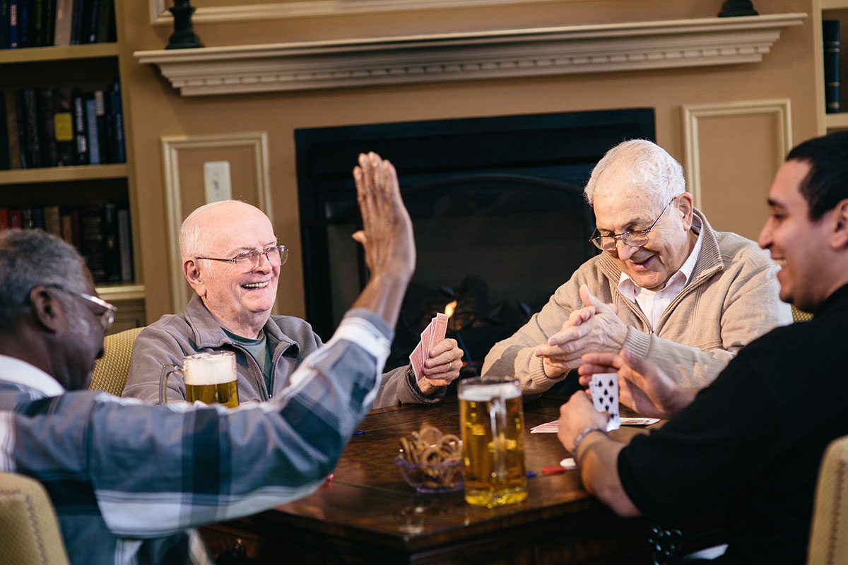 Male Residents Playing Cards