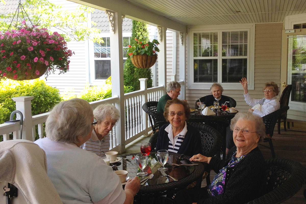 Seniors Enjoying Brandall's Patio
