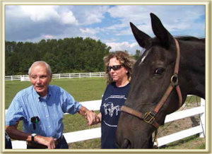 Dick Schneider with Horse