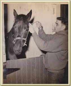 Young Dick Schneider with Horse