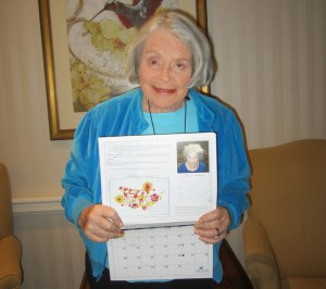 Brandywine Living at Princeton resident and HCANJ Art Contest winner Irene Polakoff.