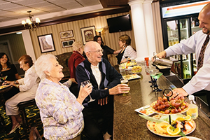 Senior Living Residents at Happy Hour