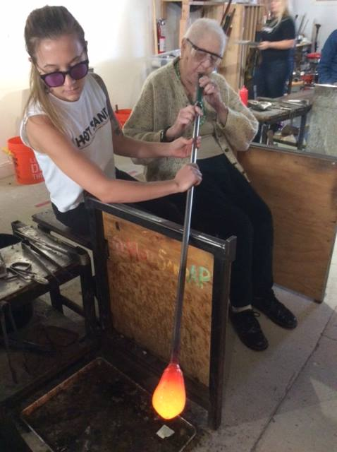 glass blowing, hot sands asbury park, active aging