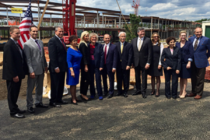 <Center>Livingston Topping Out Ceremony Celebrated by Brandywine and Wohlsen Construction </center>