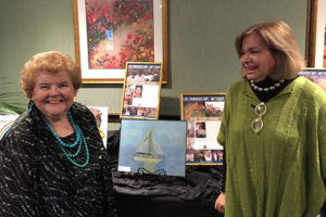 Ellen Gessner and PAFA Instructor with Artwork