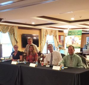 Brandywine Living and Valley Health Panel Speakers Lecturing at Changing the Way We Age Event