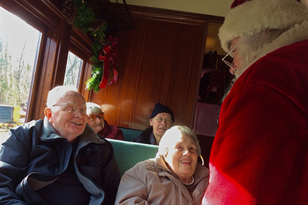 brandywine living at princeton, new hope train ride, santa claus, mrs. claus