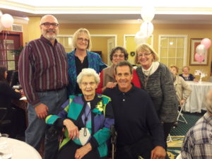bea renner, bea turns 100, brandywine living at the gables