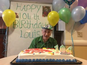Louie Schlifstein with Birthday Cake