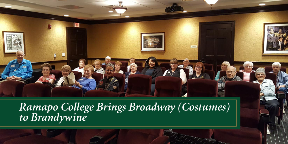 ramapo college brings broadway costumes, brandwine living at mahwah