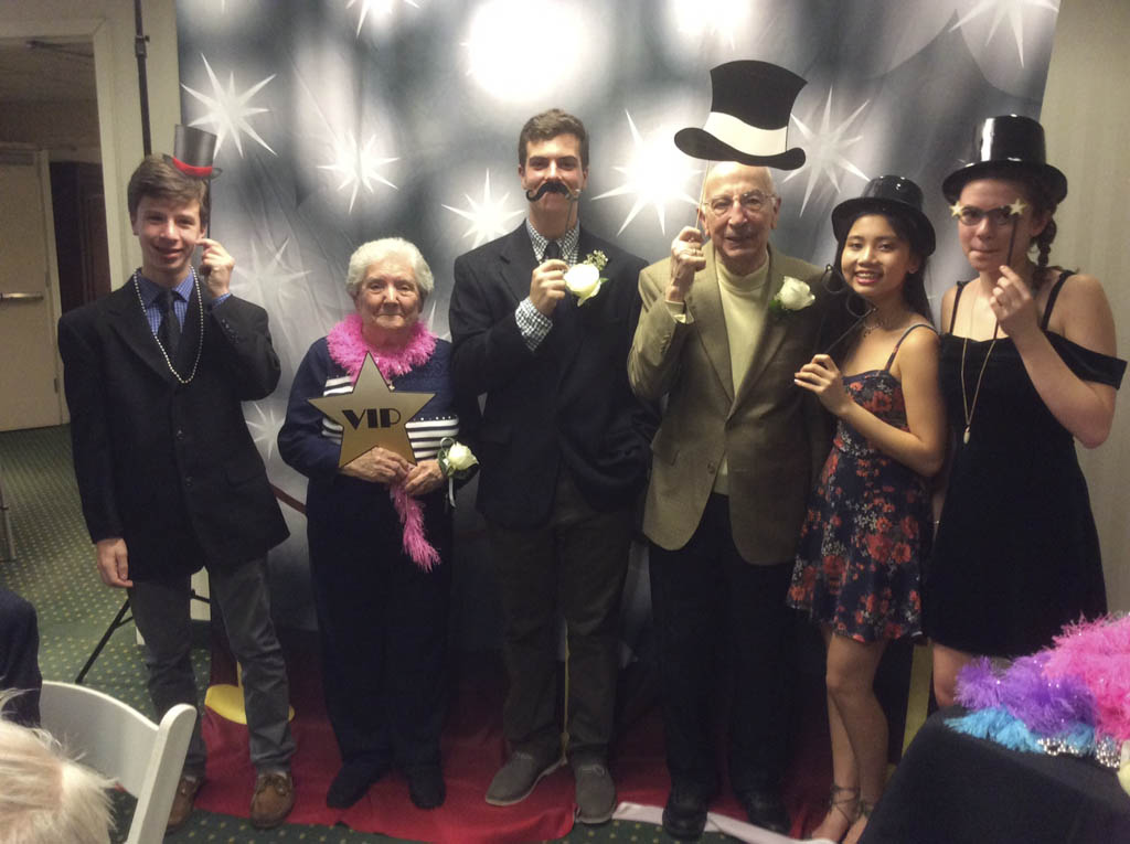 residents enjoy first intergenerational prom, hun school of princeton, brandywine living at princeton