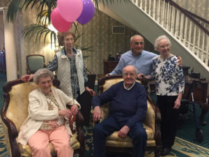 Helen Turner with friends at her birthday party
