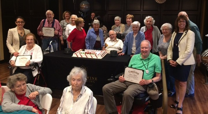 residents complete educational program, brandywine living at mahwah
