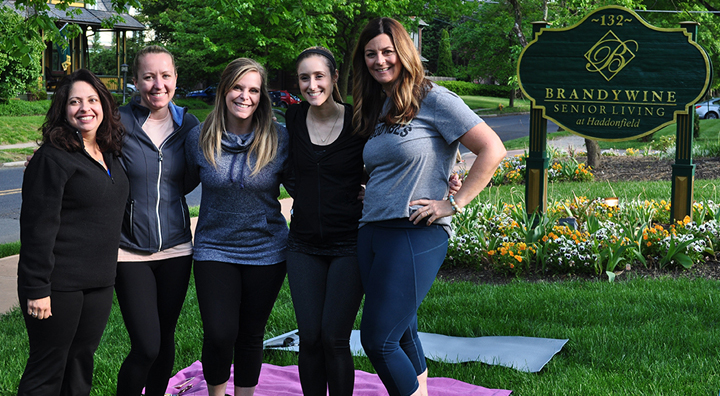 local community yoga event, brandywine living at haddonfield