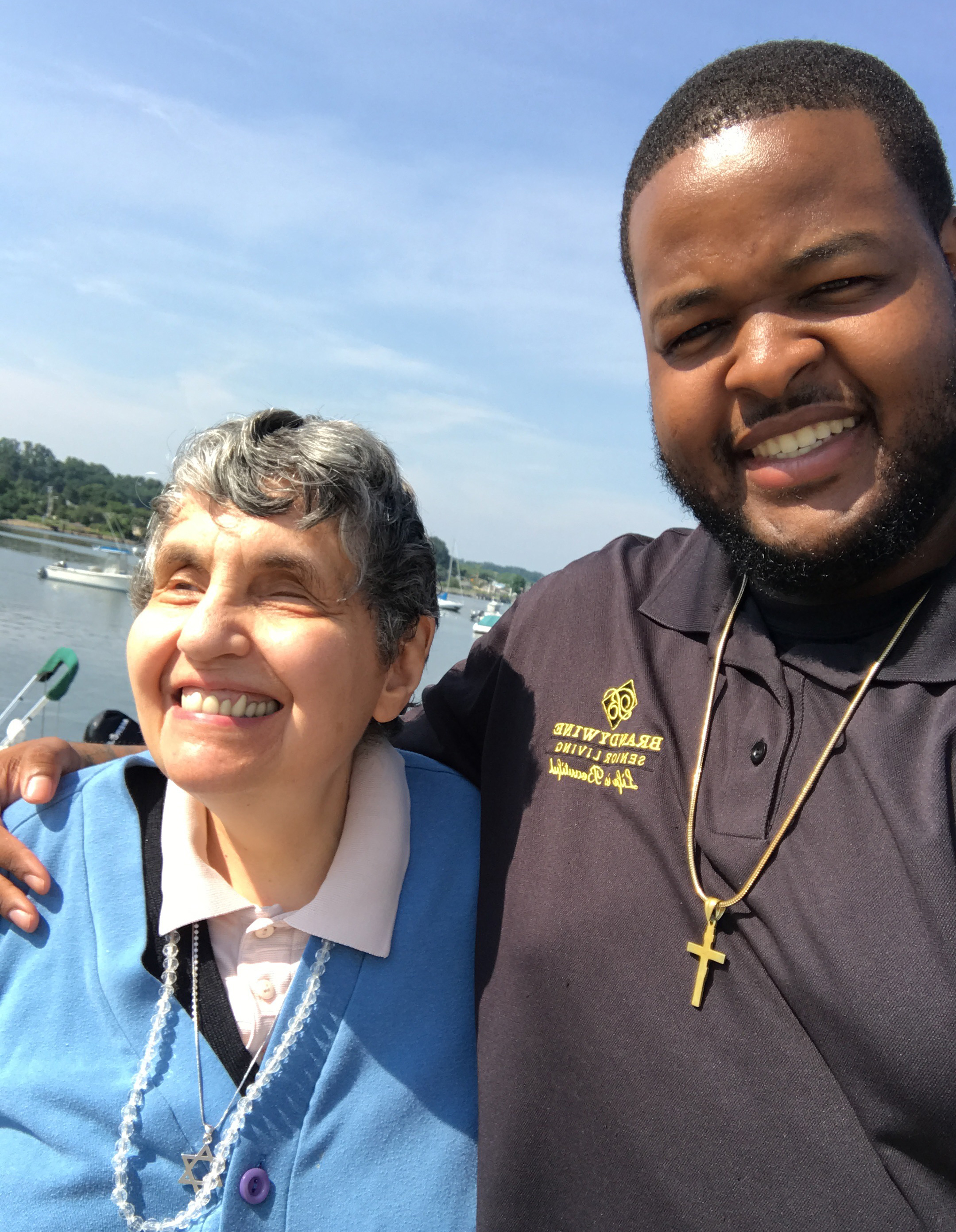Blind Senior, Cynthia Groopman, with Brandywine Care Manager