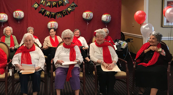 Ladies Club Performs 100th Birthday Celebration