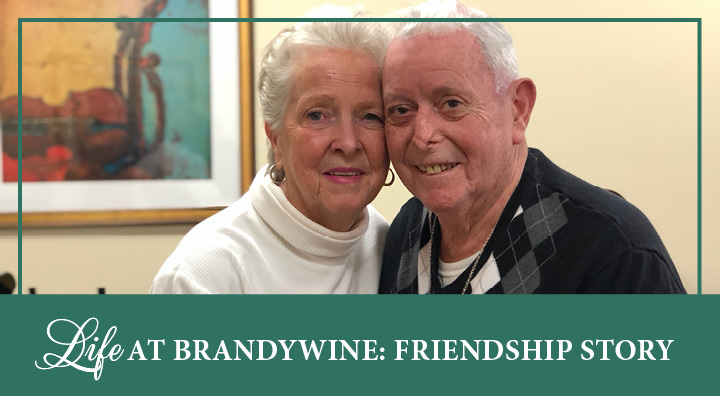 Life at brandywine, residents pose for a picture