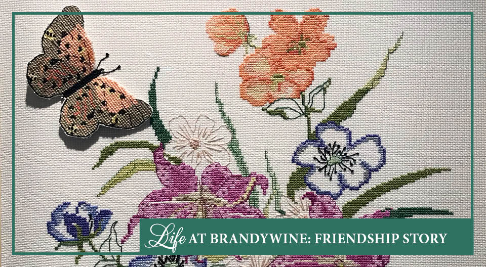 Multicolored Cross Stitch Butterfly