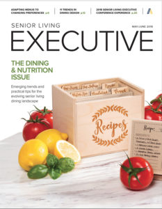 Magazine Cover of Senior Living Executive May/June 2018
