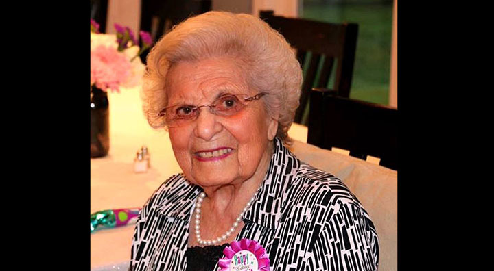 Mary Francisco at her 100th Birthday Party