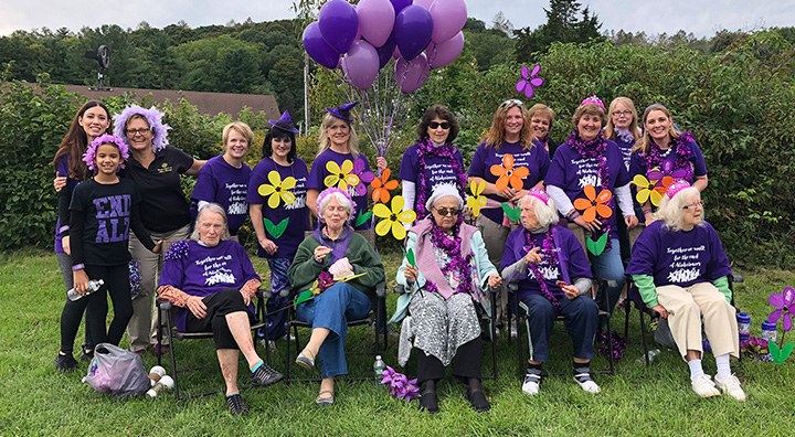 Brandywine Living Team Members and Residents Wear Purple for Alzheimer's Walk