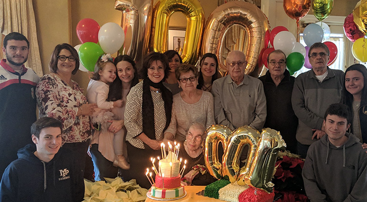 Ida Celebrating her 100th Birthday with Family
