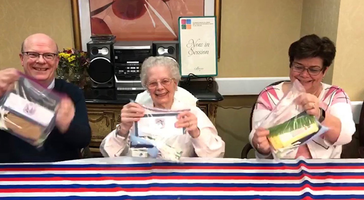 Brandywine Living at Penning Hold Care Bags for Veterans