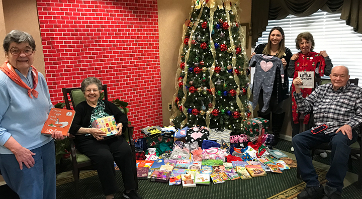 Residents and Staff Donate Pajama for Local Children in Need