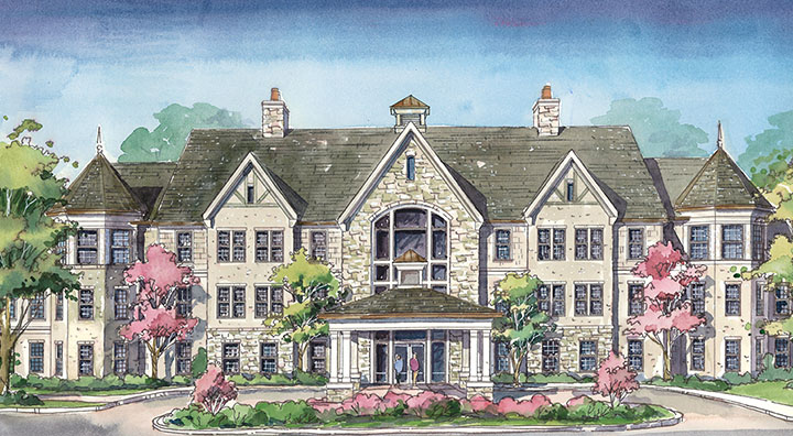 Rending of Brandywine Living at Potomac