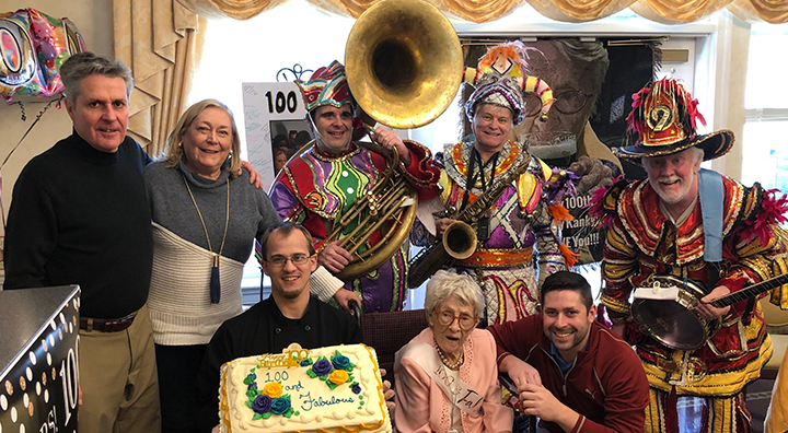 Ms. Reilly Celebrates her 100th Birthday with the Mummers