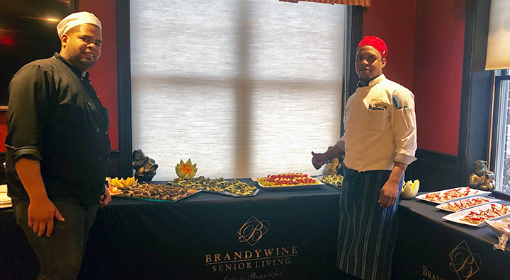 Brandywine Living Chefs Serve Healthy Appetizers for Eating Well Panel