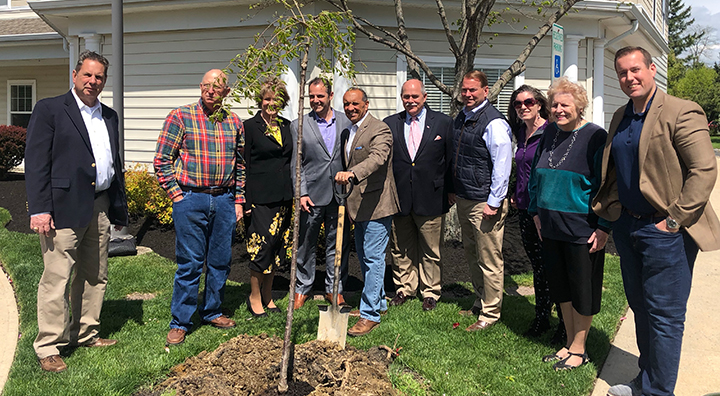Wall Township Officials Plant Tree at Brandywine Living at Wall