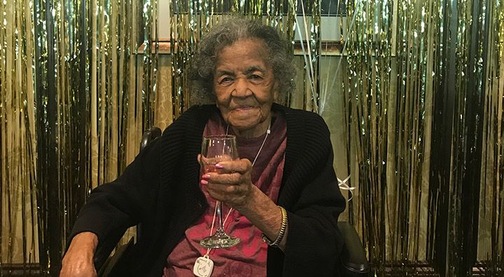 Carthela West Celebrates her 107th Birthday