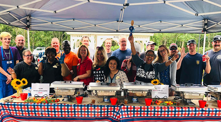 Brandywine Living at Colts Neck Team Members and Fire Department Host Chili Challenge