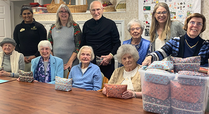 Brandywine Living at Pennington Senior Living Residents Package Bags for I Support the Girls